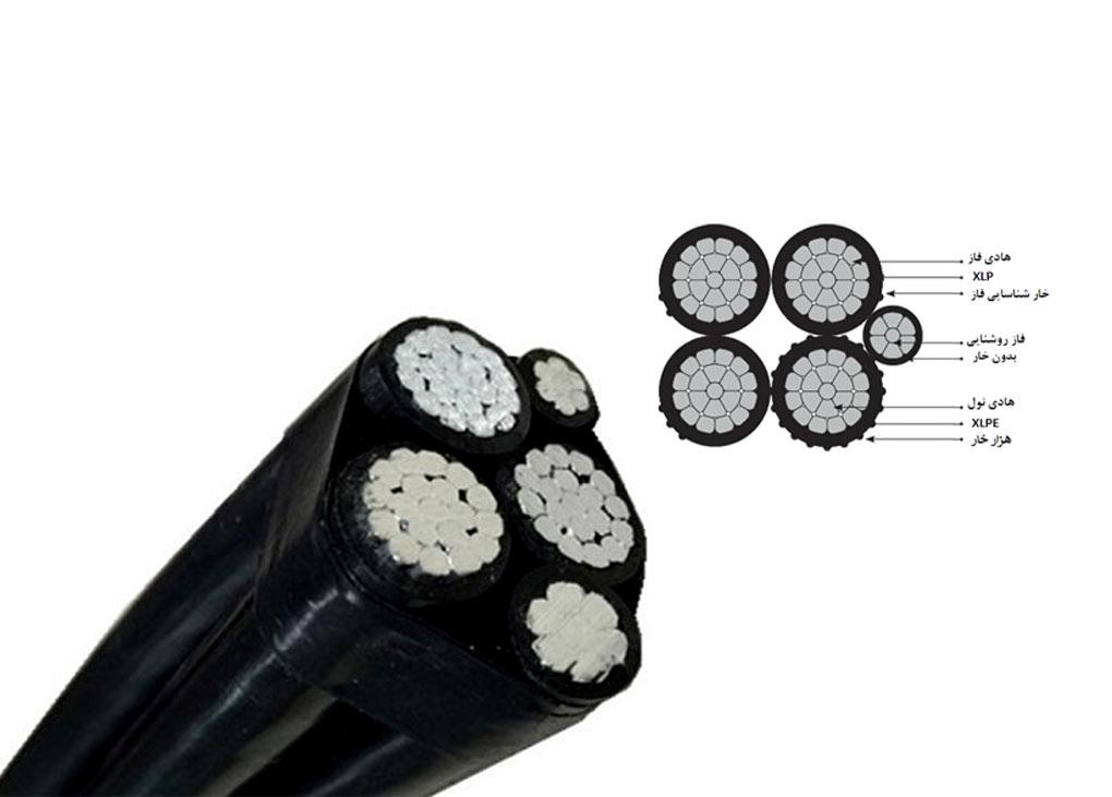از انواع کابل خود نگهدار می توان به کابل خودنگهدار 5 رشته اشاره نمود. و در مواردی که هادی های لخت هوایی منجر به حوادث می شود استفاده می شوند